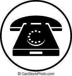 Ilustración de un teléfono rotatorio
