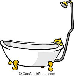 Ilustración de una bañera