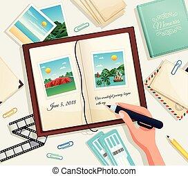 Ilustración de vector de álbum de fotos