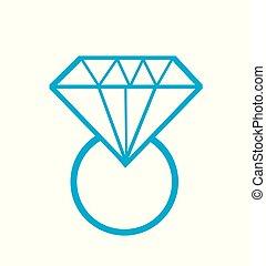 Ilustración de vector de diamante