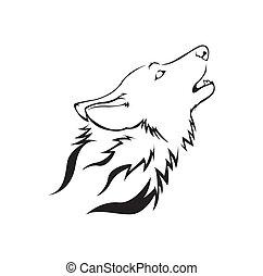 Ilustración de vector de lobo