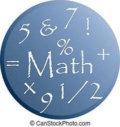 Ilustración de vector de Matemáticas