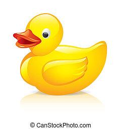 Ilustración de vector de pato de goma