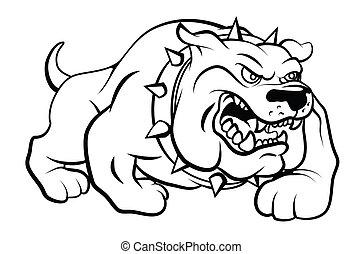 Ilustración de vector de perro toro