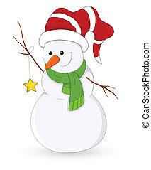 Ilustración de vector de Snowman