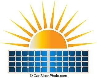 Ilustración de vector de vector solar del panel solar