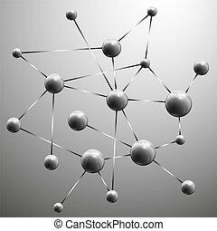 Ilustración de vector de vectores de estructura molecular