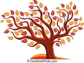 Ilustración de vectores de árboles estilizados