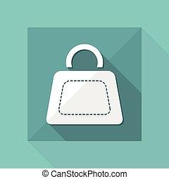 Ilustración de vectores de ícono de una sola bolsa aislada