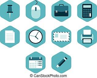Ilustración de vectores de íconos de negocios.