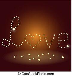 Ilustración de vectores de amor