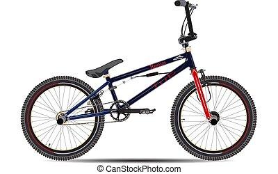 Ilustración de vectores de bicicleta BMX en estilo plano