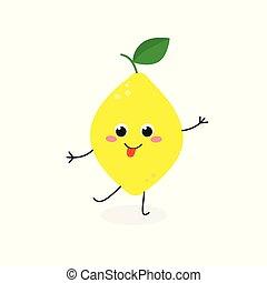 Ilustración de vectores de cómics de limón