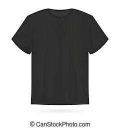 Ilustración de vectores de camiseta negra.