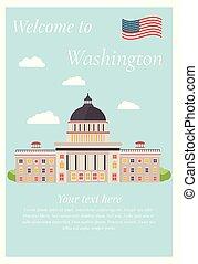 Ilustración de vectores de capital en Washington.