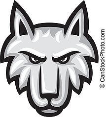 Ilustración de vectores de cara de lobo