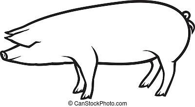 Ilustración de vectores de cerdo