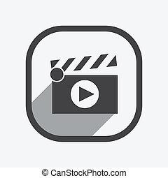 Ilustración de vectores de cine de claqué