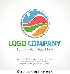 Ilustración de vectores de color de logo de viaje