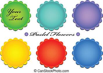 Ilustración de vectores de color pastel