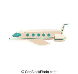 Ilustración de vectores de dibujos del avión comercial