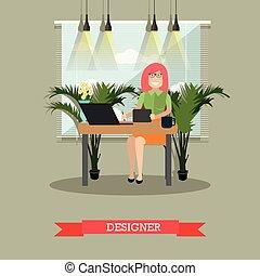 Ilustración de vectores de diseño creativo en estilo plano