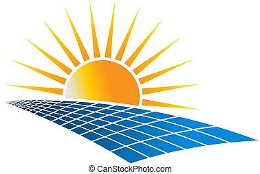 Ilustración de vectores de energía solar
