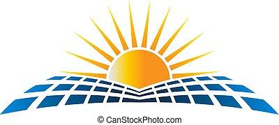 Ilustración de vectores de energu solar