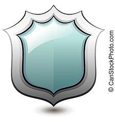Ilustración de vectores de escudo despejado