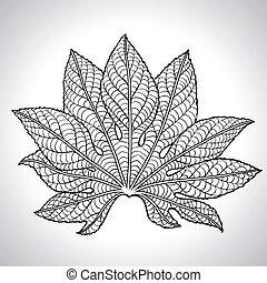 Ilustración de vectores de hoja negra