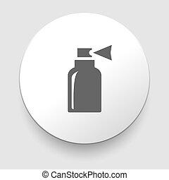 Ilustración de vectores de icono de botella aislado