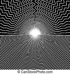 Ilustración de vectores de líneas en blanco y negro
