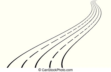 Ilustración de vectores de la carretera.
