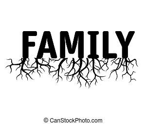 Ilustración de vectores de la familia