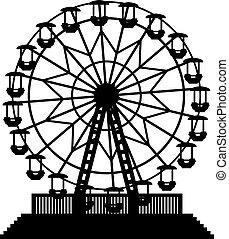 Ilustración de vectores de la rueda de la fortuna