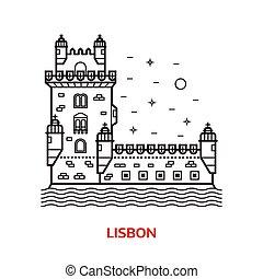 Ilustración de vectores de Lisboa