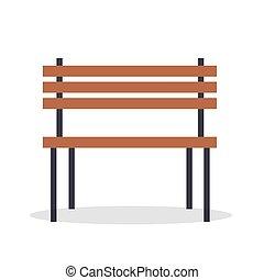 Ilustración de vectores de madera aislada en blanco