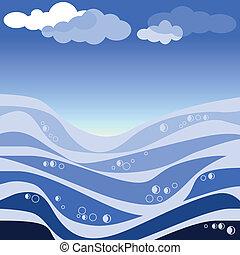 Ilustración de vectores de mar abstracto