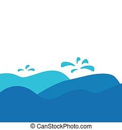 Ilustración de vectores de ondas marinas