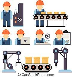 Ilustración de vectores de producción