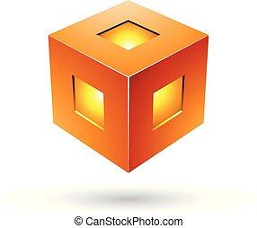 Ilustración de vectores de rayos térmico de color naranja