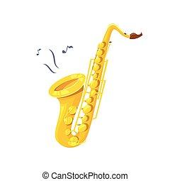Ilustración de vectores de saxofón
