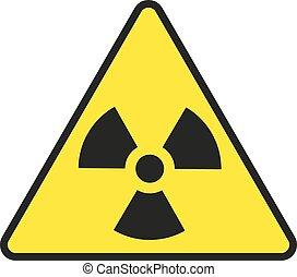 Ilustración de vectores de señal de alerta de radiación, aislada en fondo blanco