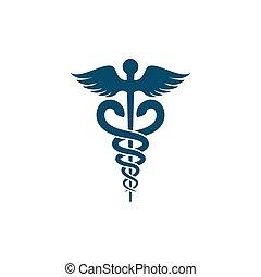 Ilustración de vectores de serpiente médica