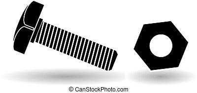 Ilustración de vectores de tornillo
