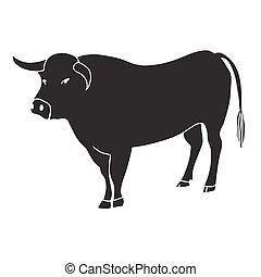 Ilustración de vectores de toro negro