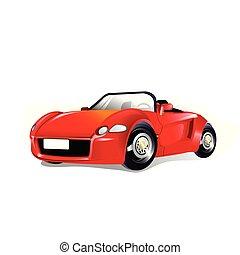 Ilustración de vectores de un coche deportivo rojo