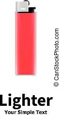 Ilustración de vectores de un encendedor rojo