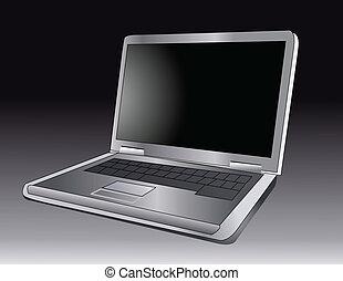 Ilustración de vectores de un portátil