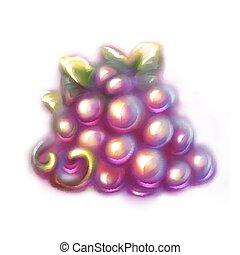 Ilustración de vectores de uva negra